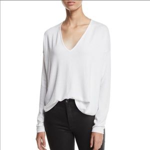 Rag & Bone White Hudson V-Neck sweater Medium